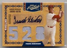 FRANK ROBINSON 2008 Playoff Prime Cuts Timeline JERSEY AUTO TRUE 1/1 ORIOLES HOF