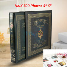 "Memo Slip in Photo Album Storage 500 Photos 4"" 6"" Memories Organiser Dark Green"