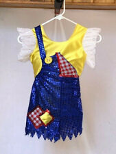 Blue & Yellow Youth Overalls Shorts Character Dance Costume
