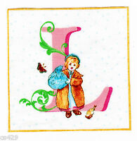 """3.5"""" Beatrix potter letter L square nursery wall safe fabric decal cut"""