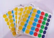 13mm Coloured Dot Stickers Round Sticky Dots Adhesive Circles Labels