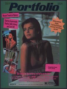 PORTFOLIO__Original 1987 Trade print AD / ADVERT__Paulina Porizkova__Carol Alt