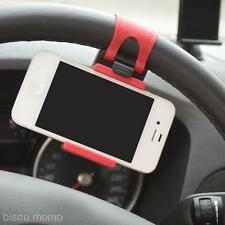 Band Hang Car Steering Wheel Support Holder Stand For iPhone6S 6 Galaxy S7 S6 S5