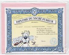 NEUF CARTE DIPLOME DU FUMEUR + ENVELOPPE  !! 10 CARTES ACHETEES = PORT GRATUIT