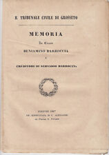 SCANSANO SIENA COMUNITÀ EBRAICA CAUSA BARROCCIA BEMPORAD AJOLA 1867 DIRITTO