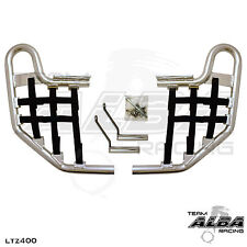 LTZ 400 LTZ400 Suzuki   Nerf Bars  Alba Racing  Silver bar Black nets 206 T1 SB