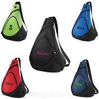 Personalized Monogrammed Backpack Shoulder Sling Pack Bag Travel Beach Pool