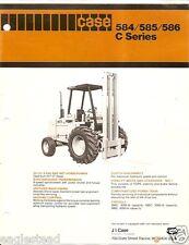Equipment Brochure - Case - 584 585 586 C series - Forklift - c1978 (E1389)