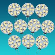 10PCS Disc Type G4 Base Side Pin 5050SMD 12 LED light cool white lamp cabinet RV