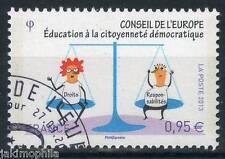 SERVICES CONSEIL DE L'EUROPE n° 156 de 2013  OBLITÉRÉ 1er jour