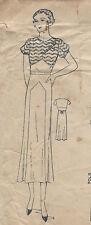"1930s Vintage Sewing Pattern DRESS B36"" (200)"