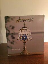Elements Electric Tiffany Style Lamp - Blue Pansey - NIB