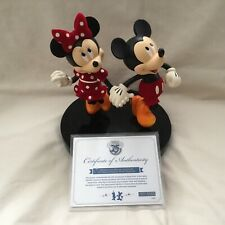 Disney Mickey & Minnie Mouse 25 Anniversary Limited Edition Figurines Statue-MIB