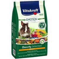 Vitakraft Emotion Beauty Adult, Zwergkaninchen - 600g - Futter Nager Kaninchen
