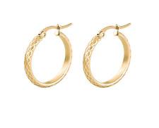 Hypoallergenic Stainless Steel Hoop earrings Gold Colour 30 mm.