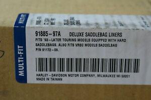 Genuine OEM Harley Davidson Deluxe saddlebag liners 91885-97