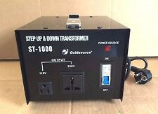 VOLTAGE CONVERTER TRANSFORMER STEP UP & STEP DOWN 1000W 220V - 110V & 110V-220V