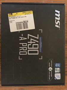 MSI Pro Intel Z490-A PRO LGA 1200 ATX DDR4-SDRAM Motherboard