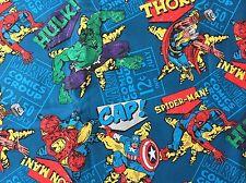 FQ Marvel Spiderman Hulk Captain America Ironman Thor SUPEREROI IN TESSUTO LOGO