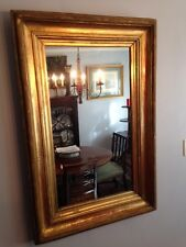 Large Antique Period Gilt onCarved Wood Frame Mirror Retangle 32X48 inch c1820