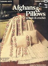 Afghans And Pillows To Knit & Crochet By Leisure Arts Book 149