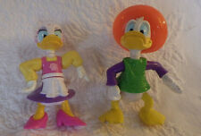 Donald Duck & Daisy Duck Pvc Figures Stamped Disney Epcot Center 2 pc Lot