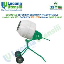 EDILMETAS BETONIERA ELETTRICA TRASPORTABILE mod MIX 100 CEMENTO 100 LITRI 0,4HP