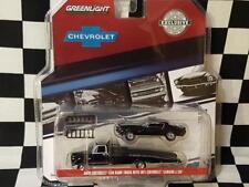 1970 Black Chevy C-30 1:64th Ramp Truck w/1971 Chev Camaro Z/28 by Greenlight