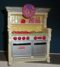 Fisher Price Loving Family 2008 Oven Stove Makes Sounds Kitchen Holiday Wreath