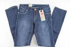 LEVI'S Girls Stretch Denim Dark Wash Adjustable Waist SKINNY Jeans Size 12