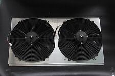 "NEW KKS RADIATOR SHROUD & 2x16"" FANS 1994-2000 GMC C2500 3500 K2500 7.4L"