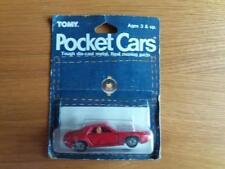 Raros TOMICA POCKET CARS Porsche 928 menta en tarjeta de la ampolla