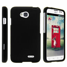 For LG Optimus L70 Slim Fitted Hard Plastic Snap On Case Cover + Tempered Glass