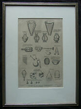 18th Century Calmet Engraving MUSIC INSTRUMENTS in Scripture Bleyswyk