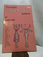 The Modern Witchcraft Spellbook Anna Riva 1972 1995 printing pink cover wicca