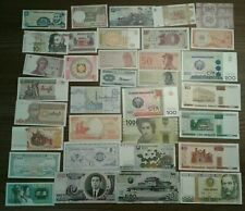 Banknoten Lot Sammlung 35x Geldscheine International gemischt ALLE UNC