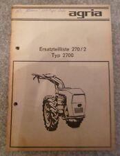 Agria Einachser 2700 Ersatzteilliste