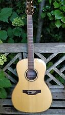 More details for takamine gy93 new yorker parlor acoustic, natural with gig bag and leather strap