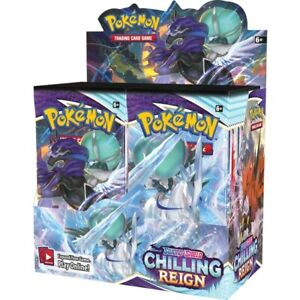 Official Pokemon Chilling Reign Booster Box   36 Booster Packs   Sealed In Hand