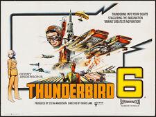 THUNDERBIRD 6 THUNDERBIRDS British Quad movie poster 1968 GERRY ANDERSON mounted