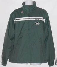 NFL Mens Authentic New York Jets Lined Zip Front Jacket Green XL NWT