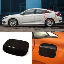 3D Real Carbon Fiber Gas Fuel Cap Door Cover Sticker Decal For Honda Civic 10th