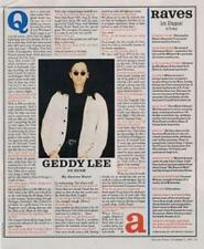 Rush Geddy Lee Primus Claypool Interview/article 1996