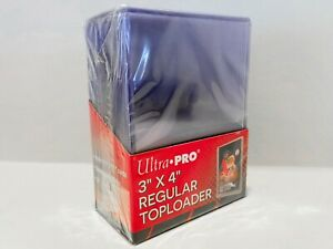 25x Ultra Pro 3x4 inch Regular Toploaders - 1 SEALED Pack of 25 Top Loaders 35pt