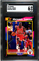 1992 Kenner STARTING LINEUP CARD  #23 Michael Jordan Chicago Bulls SGC 6