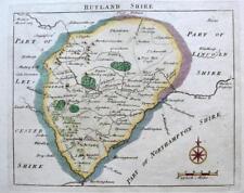 RUTLANDSHIRE RUTLAND OAKHAM  BY JOHN ROCQUE GENUINE ANTIQUE MAP  c1769