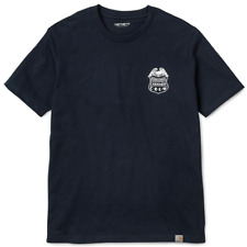 CARHARTT | Men's Navy Blue S/S EMBLEM T/S | Short Sleeve Crew Neck T-Shirt | XXL