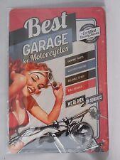 Migliori GARAGE per motocicli-Retro Metallo Segno da Nostalgic Art-Taglia A4