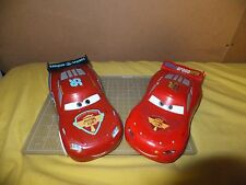 Lot of 2 Large Lightning McQueen Vehicle (1:24 Scale) Talks light up
