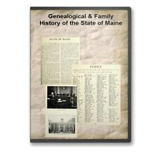 Genealogical & Family History of the State of Maine 4 Volume Set CD - D483